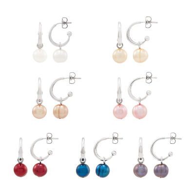 LIMITED QUANTITIES! Honora Legacy Multi Color Cultured Freshwater Pearl Sterling Silver Round 4 Pair Jewelry Set