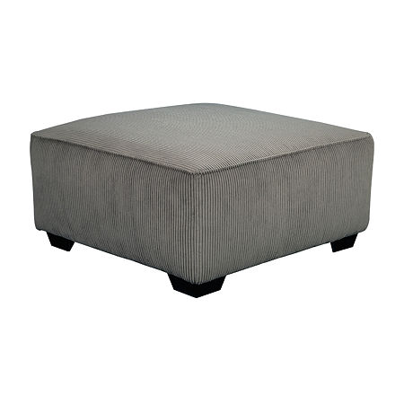 Signature Design by Ashley Jinllingsly Oversized Accent Ottoman, One Size , Gray