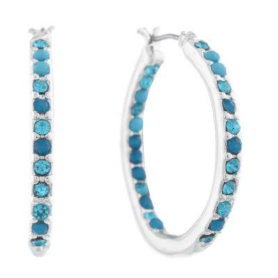 Gloria Vanderbilt 29.5mm Hoop Earrings