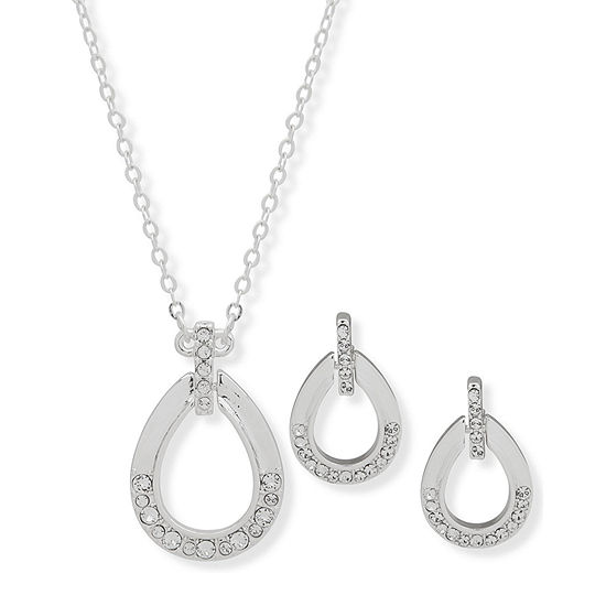 Gloria Vanderbilt Silver Tone 3-pc. Jewelry Set
