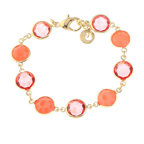 Gloria Vanderbilt Gold Tone 7.5 Inch Link Bracelet