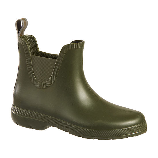 Totes Womens Cirrus Ankle Rain Boots Waterproof Pull-on