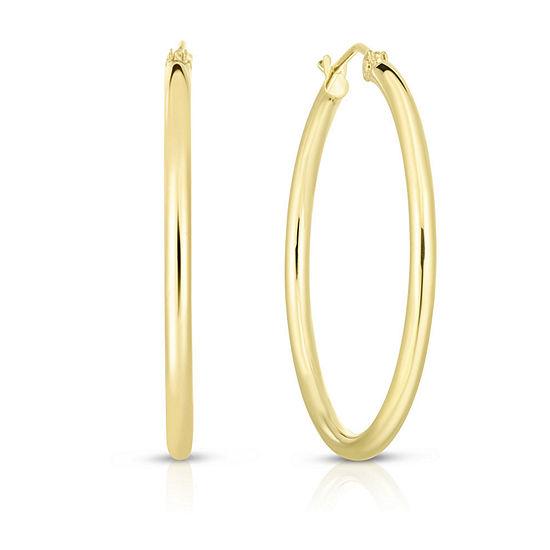 14K Gold 30.5mm Hoop Earrings