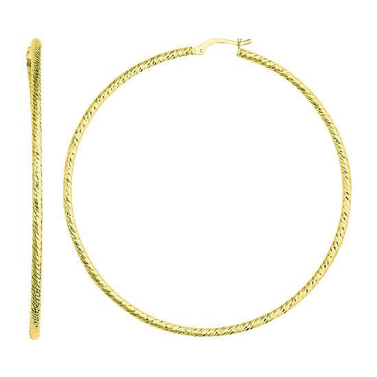 14K Gold 65.5mm Hoop Earrings