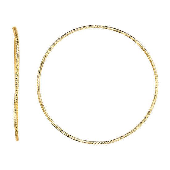14K Gold 53.5mm Hoop Earrings