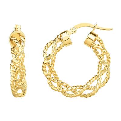 14K Gold 26.7mm Hoop Earrings