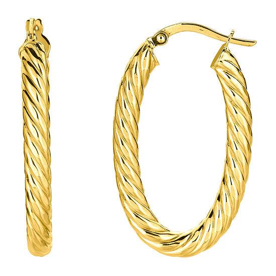 14K Gold 34mm Hoop Earrings