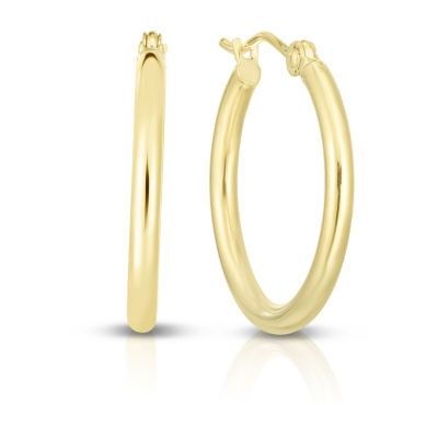14K Gold 20.2mm Hoop Earrings