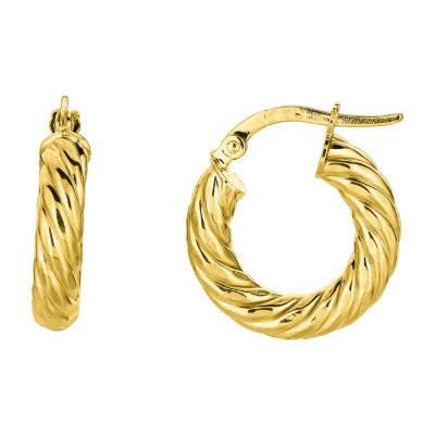 14K Gold 19.8mm Hoop Earrings