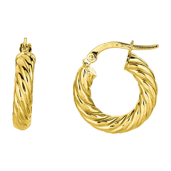 14K Gold 19.8mm Hoop Earrings