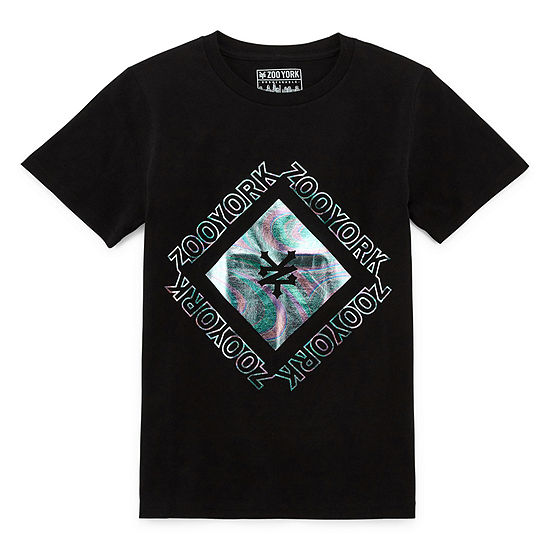 Zoo York Boys Crew Neck Short Sleeve Graphic T-Shirt Husky