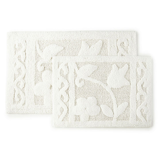 Madison Park Tulip Trace 2-pc. Bath Rug Set