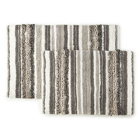 Madison Park Mingle Stripe 2-pc. Bath Rug Set