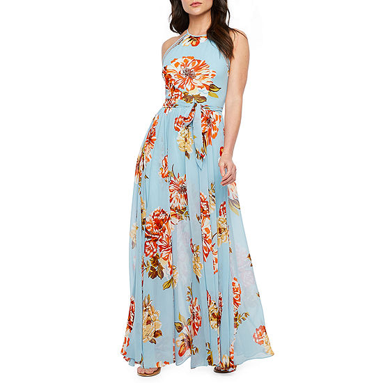 Premier Amour Sleeveless Floral Maxi Dress
