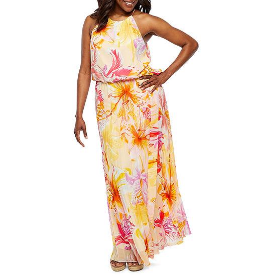 800dd262ef1bd Premier Amour Sleeveless Floral Maxi Dress