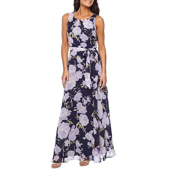 R K Originals Sleeveless Floral Maxi Dress