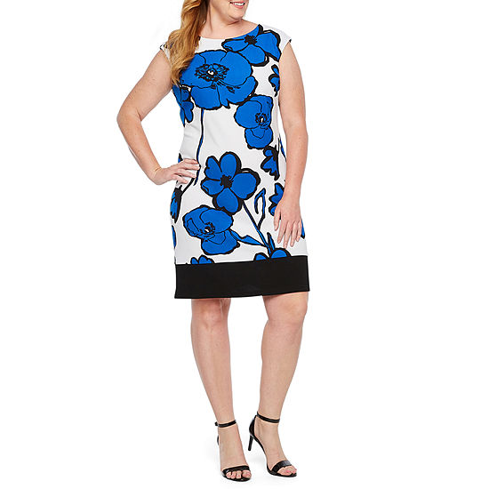 Ronni Nicole Sleeveless Floral Shift Dress-Plus
