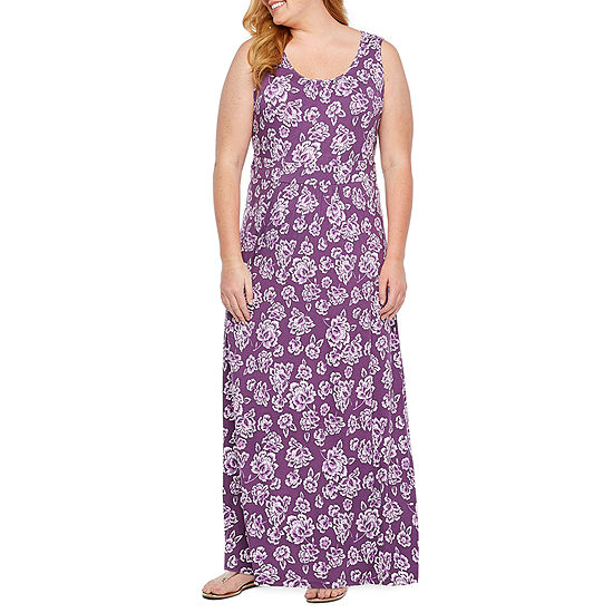 St. John's Bay Sleeveless Bordered Maxi Dress