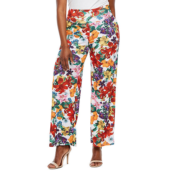 Bold Elements Womens Mid Rise Wide Leg Palazzo Pant