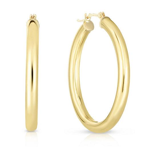 10K Gold 30.7mm Hoop Earrings