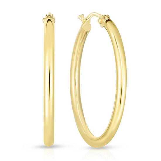 14K Gold 25.3mm Hoop Earrings