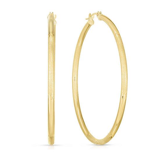 14K Gold 45.3mm Hoop Earrings