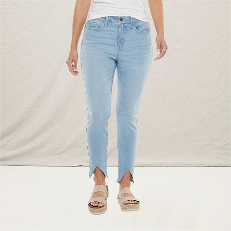 a.n.a Womens High Rise Skinny Ankle Jean, 10 , Blue