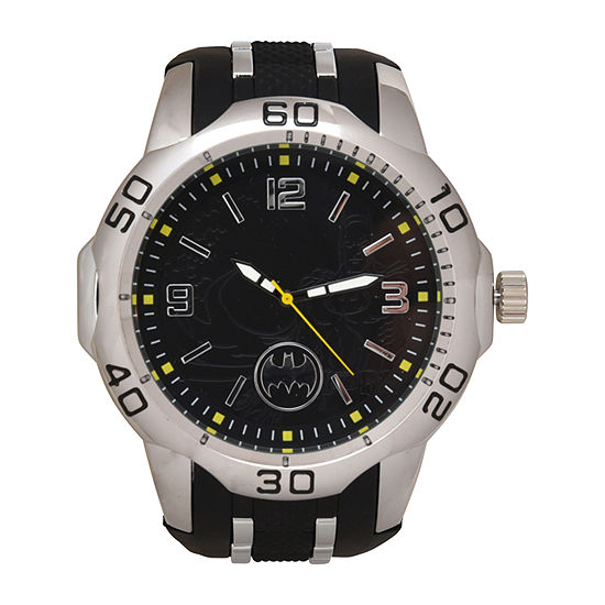 Batman Mens Black Strap Watch-Bat9558