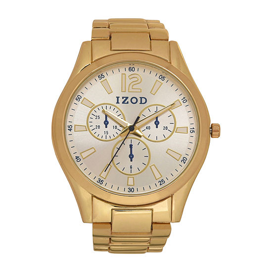 IZOD Mens Gold Tone Bracelet Watch-Izo5273jc