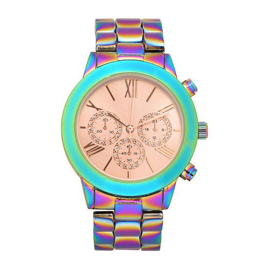 Geneva Womens Multicolor Bracelet Watch-Wac8738jc