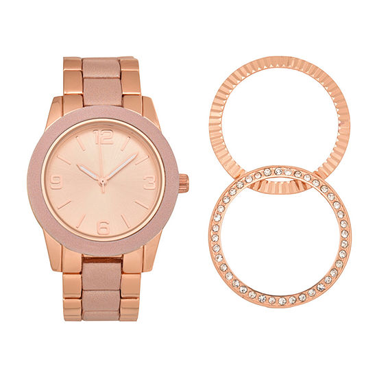 Geneva Womens Rose Goldtone Bracelet Watch-Wac7255jc