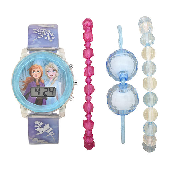 Disney Frozen Girls Digital Blue 4-pc. Watch Boxed Set-Fzn45001jc