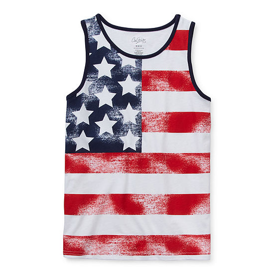 City Streets Americana Little & Big Boys Crew Neck Tank Top
