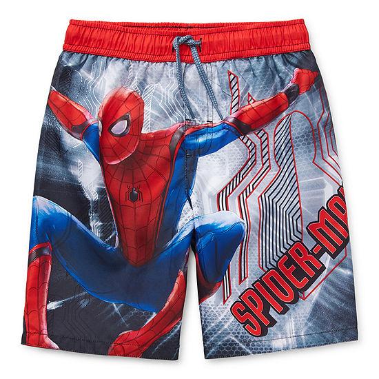 Marvel Little Kid / Big Kid Boys Spiderman Swim Trunks