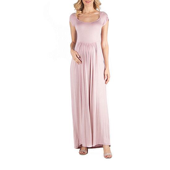24/7 Comfort Apparel Round Neck and Empire Waist Maxi Dress