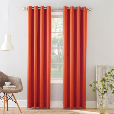 Sun Zero Emory Energy Saving Light-Filtering Grommet-Top Single Curtain Panel