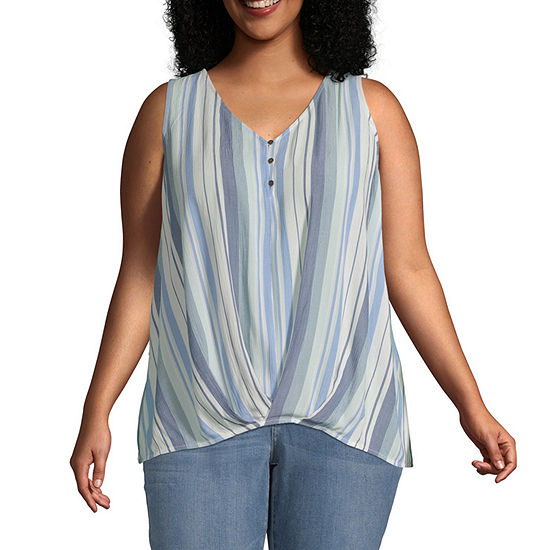 a.n.a-Plus Womens Pleat Front Tank Top