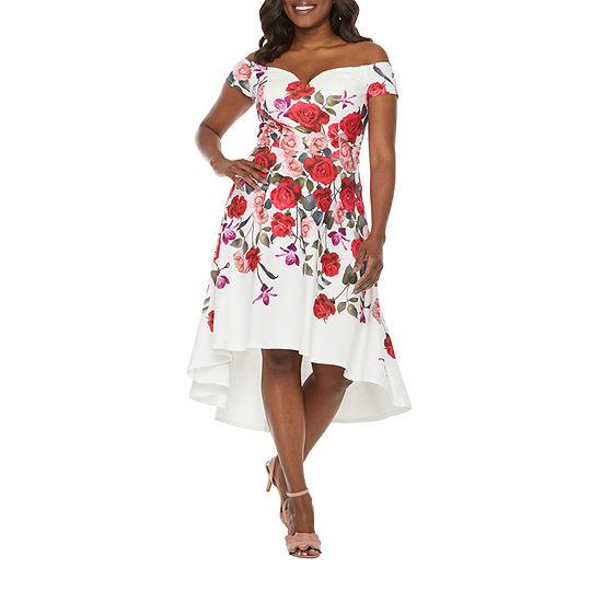 Premier Amour Off The Shoulder Floral Fit & Flare Dress