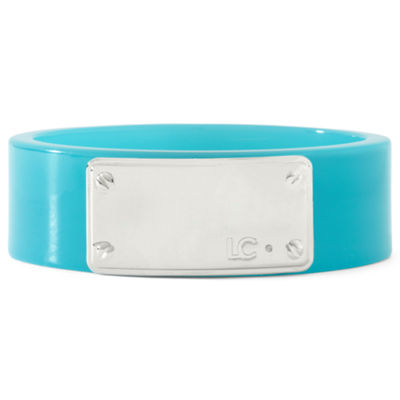 Liz Claiborne Aqua Logo Plaque Bangle