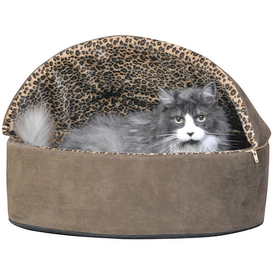 K & H Manufacturing Thermo-Kitty Deluxe Hooded Heated Cat Bed