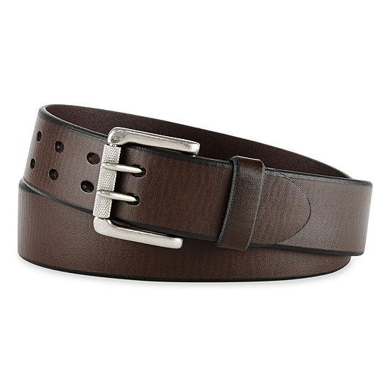 Levi's® Brown Leather Belt w/ Double Prong