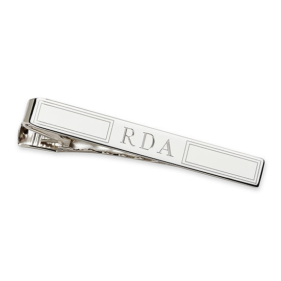 Personalized Sterling Silver Tie Bar