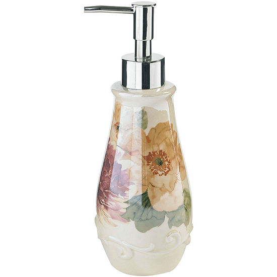 Queen Street Carlyon Floral Soap Dispenser