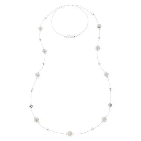 Silver-Tone Fireball Illusion Necklace