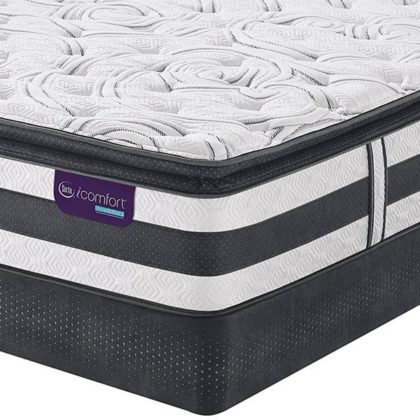Serta Icomfort Hybrid Observer Super Pillow Top Mattress Box Spring