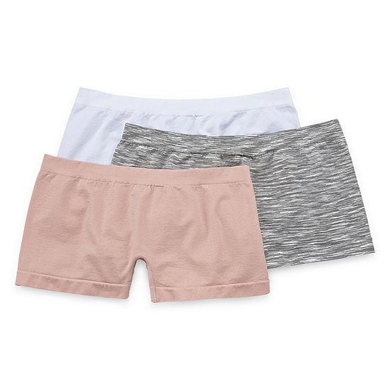 Real 3-pc. Knit Boyshort Panty 42348cjcp
