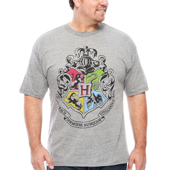 Hogwarts Crest Shrt Short Sleeve Harry Potter Graphic T-Shirt-Big and Tall
