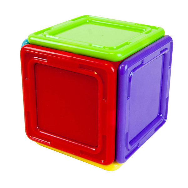 Magformers Solids Opaque Rainbow 14 PC. Set
