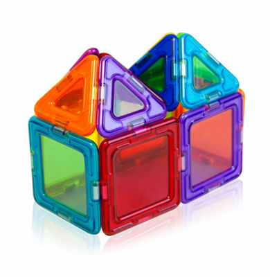 Magformers Solids Clear Rainbow 14 PC. Set