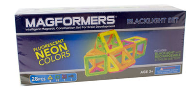 Magformers Neon 28 PC. Blacklight Set